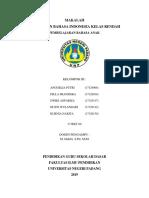 Makalah P. Bahasa Indonesia Kelas Rendah 1
