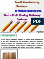 Wooden Pencil Manufacturing Business