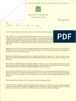 Tory MPs resignation letter