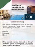 Evolution of Entrepreneurship in the Philippines