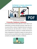 Domicilio Patria Potestad La Muerte Desaparicion - U 4