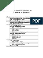 Hip Checklist