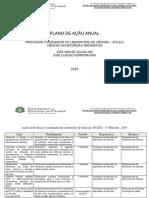 Plano de Ação - 2019 - Laboratório Ciências