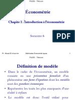 Slide Chap 1 S6 Econometrie