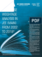 JEE Weightage Analysis Handout