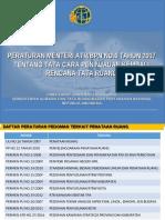Sosialisasi Peren ATR-BPN No 6 Tahun 2017-Tata Cara PK RTR
