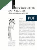 Educación de adultos (de) y en la actualidad