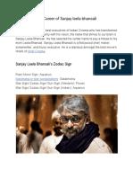 Horoscope and Career of Sanjay leela bhansali