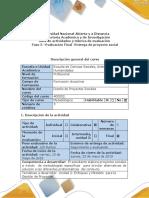 Guía de Actividades y Rúbrica de Evaluación - Fase 5 - Evaluación Final - Entrega de Proyecto Social