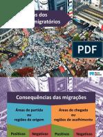 Geografia 8ºano-  Consequências Dos Movimentos Migratórios