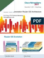 Cisco Next Generation Router Os Architecture