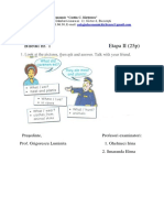 Model Subiect Limba Engleză Etapa II Interactiune Orala