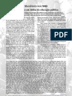 Clique Aqui e Baixe o Cartaz Do Manifesto Dos 5000 Profess Ores Em Defesa Da Educacao