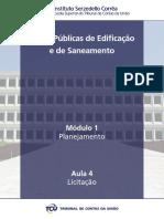Curso Tribunal de Contas da União - Obras Publicas de Edificação e Saneamento - Modulo1 - Aula4