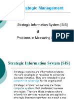 Strategic Information System & Problems in Measuring Performance