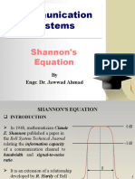Shannon's Equation