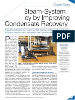 Boost Steam-System Efficiency by Improving Condensate Recovery