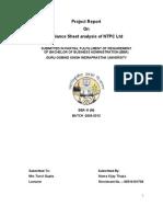 PDCS Project(Balance Sheet Analysis of NTPC Ltd)