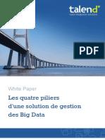 Les Quatre Piliers d'Une Solution de Gestion Des Big Data