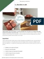 Gâteau Petit-beurre, Chocolat Et Café