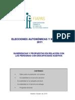 Propuestas Elecciones Autonómicas y municipales 2011