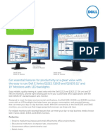 Dell E Series E2213 E1913 E1913S Monitor Channel Brochure