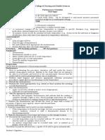 VItal Signs Checklist