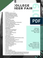 REL College Career Fair Flyer 2019 Parents