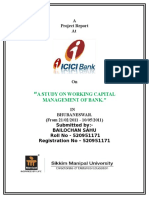WORKING CAPITAL aANALYSIS ICICI BANK ON SMU final.doc - for merge.doc