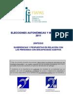 Síntesis propuestas Elecciones 2011 Autonómicas y municipales