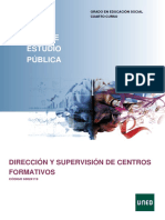 Asignatura Dirección y Supervisión de Centros Formativos