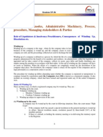 Pre Study Business PCL-I MACR Session 25-26 Winding Up