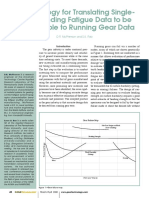 Methodology for Translating Single-Tooth Bending Fatigue Data to be Comparable to Running Gear