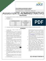 Prova de assistente em administração