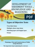 Educ 6 Development of Assessment Tools