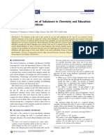 The Mole and Amount of Substance in Chemistry and Education (1)