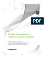 Quickbooks Advanced Proadvisor Exam Answers