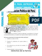 Ficha Constitucion Politica Del Peru Para Cuarto de Primaria
