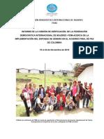 Informe de La II Misión de Verificación de Fdim