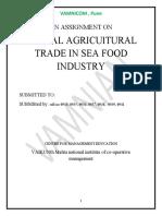 Global sea food trade
