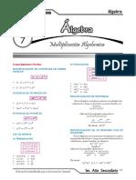 1- Álgebra (7 - 12)