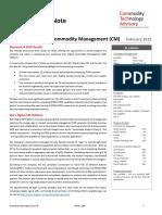 CTRM Briefing Note – EKA – Reimagining Commodity Management (CM)