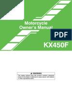 manuale utente kx450f