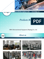 2019 EBP Products Brochure - Hardness tester (Vickers, Rockwell, Brinell, Universal, UCI, Shore, Webster, Barcol, Leeb), UTM, Sample Prepare, Impact testing, NDT