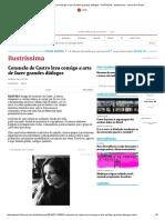 Consuelo de Castro Leva Consigo a Arte de Fazer Grandes Diálogos - 31-07-2016 - Ilustríssima - Folha de S