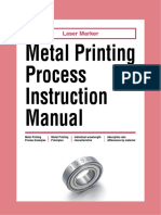Keyence Metal Printing Process Instruction Manual
