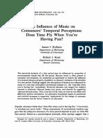 En Kellaris, Cox .... Müziğin Tüketicilerin Geçici Algılarına Etkisi, Eğlenirken Zaman Uçuyor Mu