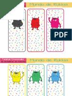 Tarjetas de Emociones Del Monstruo de Colores (Carta USA)