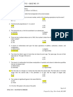 SPLE - Plumbing Arithmetic - Quiz No. 01- Answer Key