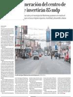 19-02-19 Inicia la regeneración del centro de Monterrey; se invertirán 85 mdp